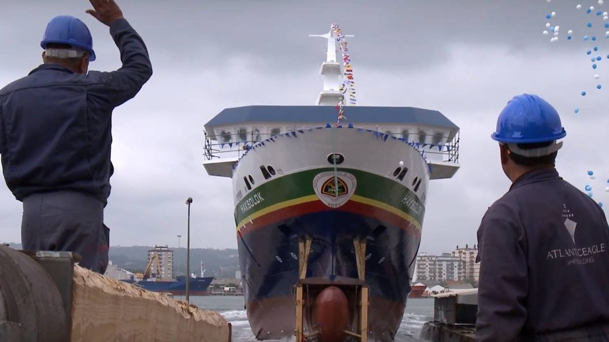 "Ro-Ro Ferry ""Haksolok"": The Ship Launching Day (with video)"