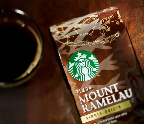Mount Ramelau coffee at Starbucks